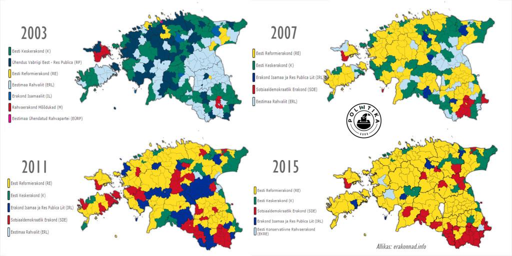Eesti valimistulemused FLAT