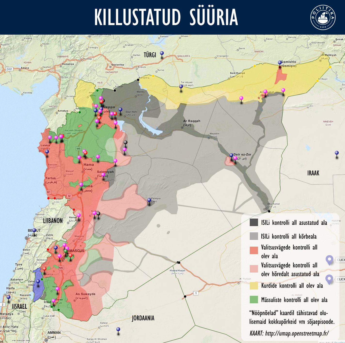 Killustatud Süüria kaart