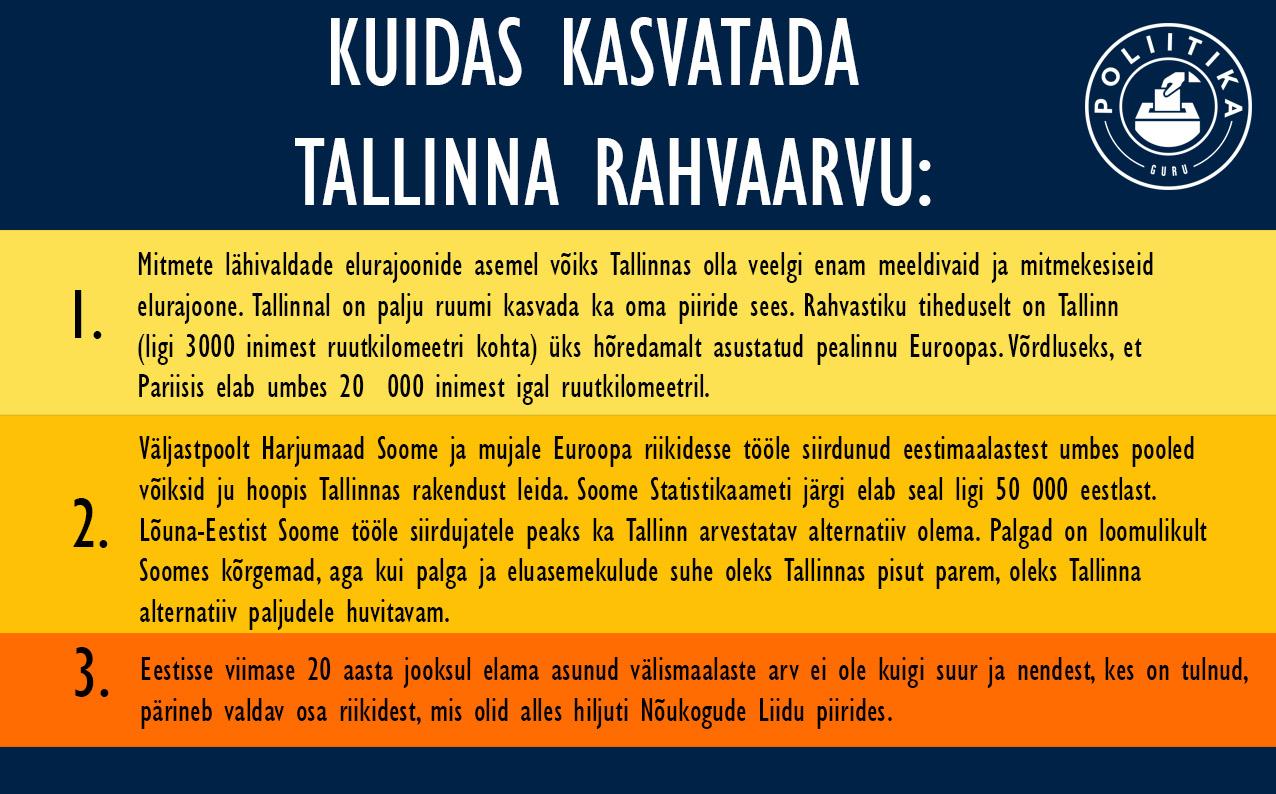 Kuidas kasvatada Tallinna rahvaarvu