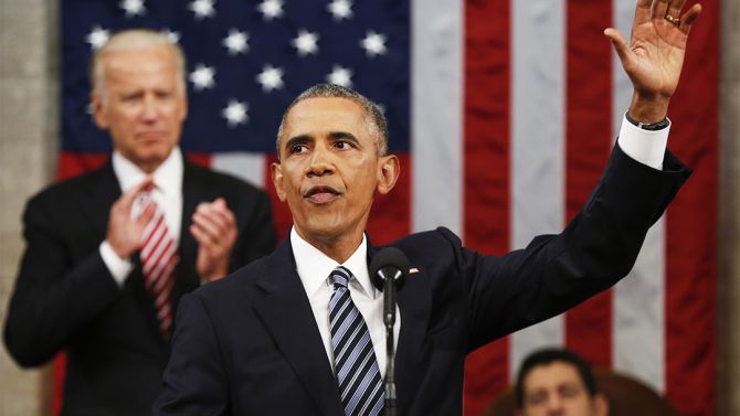Mandatory Credit: Photo by REX/Shutterstock (5540297ae) President Barack Obama waves at the conclusion of his State of the Union address to a joint session of Congress on Capitol Hill in Washington,. President Barack Obama gives the State of the Union address, Washington D.C, America - 12 Jan 2016